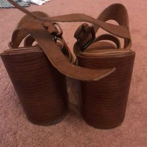 Madewell Shoes - Chunky brown heel sandals